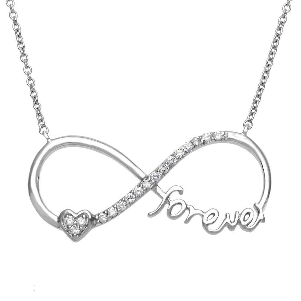 necklace giorrecom heart sign infinity with l kay