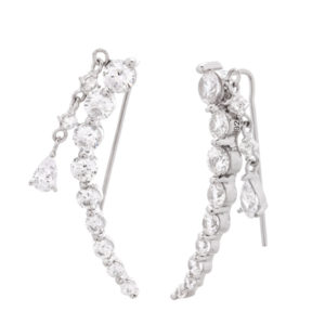 rhodium plated jacket ear crawler