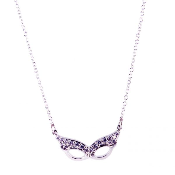 silver mask necklace