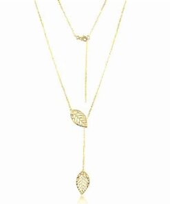 gold-open-leaf-hanging-chain-necklace
