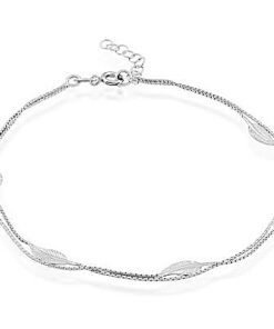 leaf double chain anklet