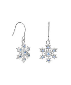 blue crystal snow flake earrings vj