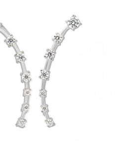 fancy long cz ear climbers