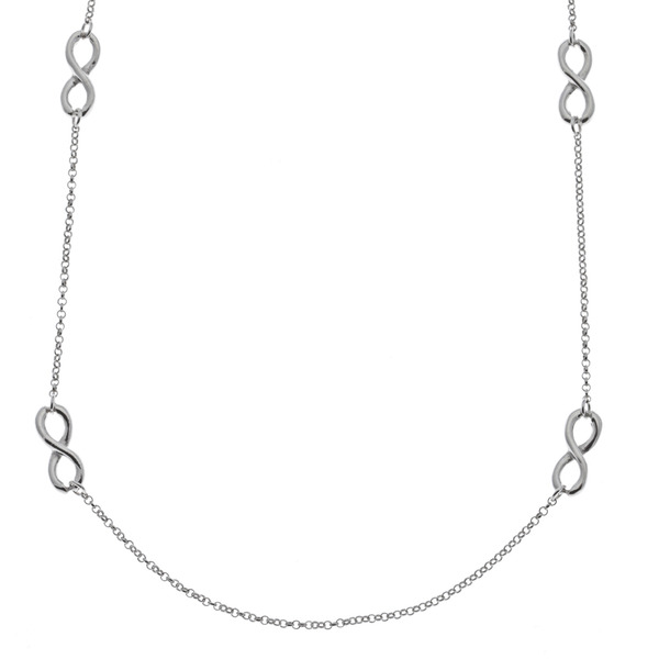 sterling silver multiple infinity necklace